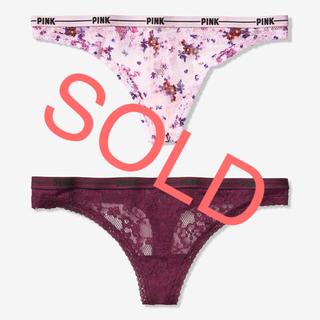 ヴィクトリアズシークレット(Victoria's Secret)の新品❤️ヴィクトリアシークレット 総レース Tバックショーツ XS Sサイズ(ショーツ)