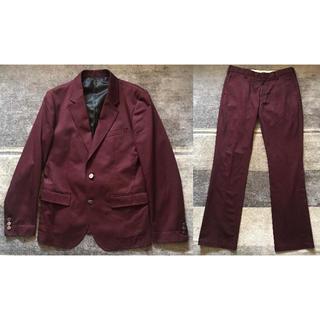 ワコマリア(WACKO MARIA)の好カラー バーガンディー レア 初期 ワコマリア スーツ センターベント L(セットアップ)