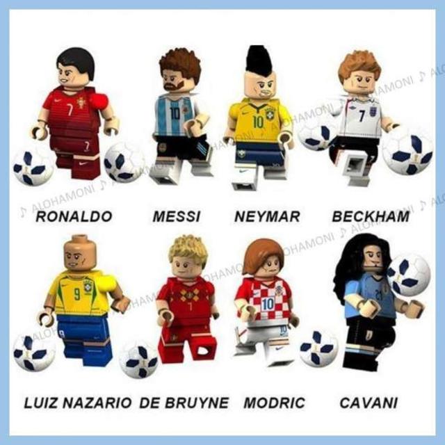 10cm フィギュア | LEGO レゴ 互換 サッカー ワールド オールスター 選手 8体セットの通販 by ALOHAMONI|ラクマ