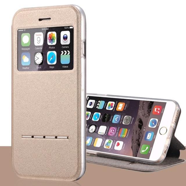 iPhone5 / 5s /SE ゴールド 小窓 閉じたまま通話 ケースの通販 by スヌーピー's shop|ラクマ