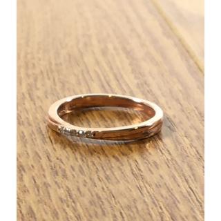 ヨンドシー(4℃)のK10 canal 4℃ ダイヤ付きピンクゴールドリング (94000630)(リング(指輪))