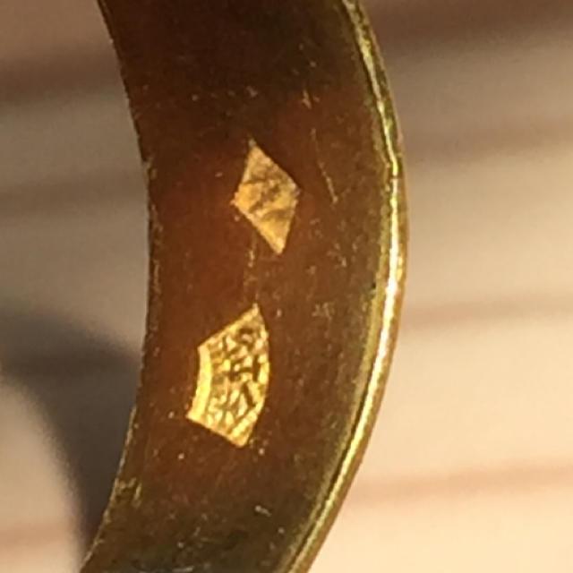 純金(K24)指輪約7.4g18〜20号変形あり レディースのアクセサリー(リング(指輪))の商品写真