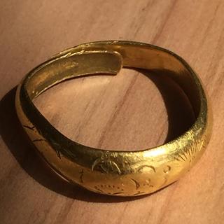 純金(K24)指輪約7.4g18〜20号変形あり(リング(指輪))