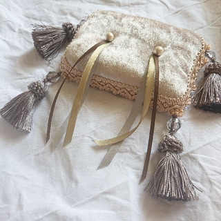 hand made ring pillow 【tassel×blade】(リングピロー)