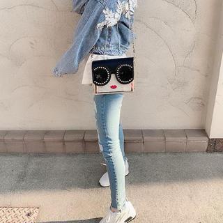 取り寄せ♡まあやちゃん着用♡インポート♡フェイスデザインクリアバッグ