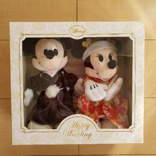 ディズニー(Disney)のゆう様専用☆ミッキーミニー和装ウェルカムドール(ウェルカムボード)