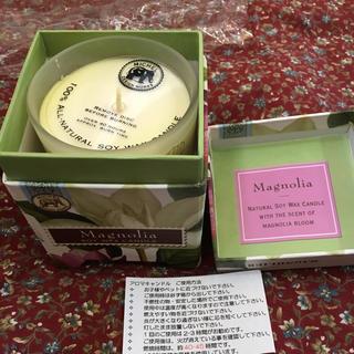 フランフラン(Francfranc)のマグノリア アロマキャンドル soy wax candle  新品 (アロマ/キャンドル)
