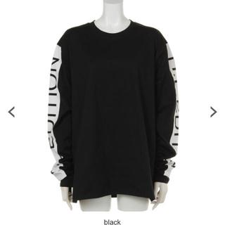 ハニーミーハニー(Honey mi Honey)のハニーミーハニー アームロゴロンT ブラック(Tシャツ(長袖/七分))