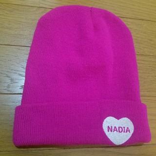 ナディア(NADIA)の『NADIA』♡刺繍ニット帽(ニット帽/ビーニー)