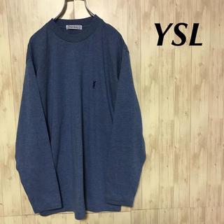 サンローラン(Saint Laurent)の美品 YvesSaintLaurent ロンT 刺繍ロゴ(Tシャツ/カットソー(七分/長袖))