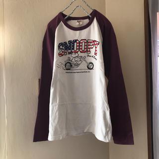 スヌーピー(SNOOPY)のスヌーピー  バイクがカッコいいラグランTシャツ♪(Tシャツ(長袖/七分))