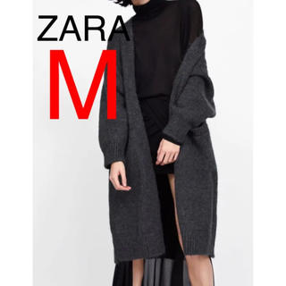 ザラ(ZARA)の新品タグ付き ZARA ザラ オーバーサイズ ロング ニットカーディガン(ニットコート)
