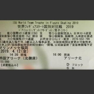 良席お値下げ 国別対抗戦チケット 4月12日金 男子フリー 宇野昌磨くんetc…(ウィンタースポーツ)