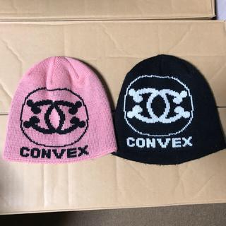 ロンハーマン(Ron Herman)のconvexコンベックスキッズニット帽子②点セット黒ピンク(帽子)