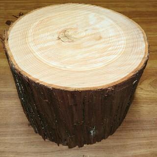 薪割り台 ひのき・東濃桧・檜 幅約23~26cm 高さ約15cm(その他)