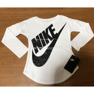 ナイキ(NIKE)の新品♡NIKE♡ナイキ♡キッズ ♡3-4T♡3-4ヶ月♡ホワイト白♡ロンTee(Tシャツ/カットソー)