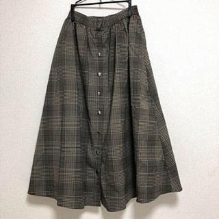 ローリーズファーム(LOWRYS FARM)のマエヒラキスカート*チェック(ロングスカート)