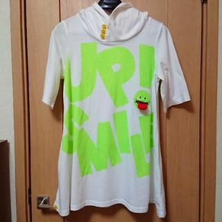 アップスタート(UPSTART)の【UP!SMILE】半袖Tシャツパーカーワンピース(Tシャツ(半袖/袖なし))