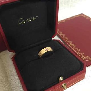 カルティエ(Cartier)のカルティエCartierラブリング ピンクサファイヤ18K美品ピンクゴールド指輪(リング(指輪))