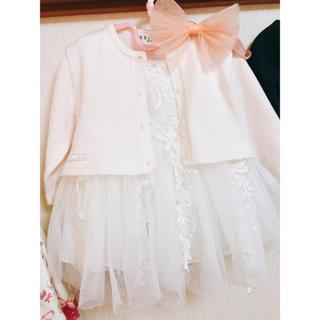 セリーヌ(celine)のベビードレス 80 セリーヌカーデ セット(セレモニードレス/スーツ)