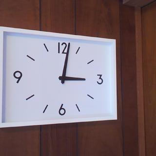 ムジルシリョウヒン(MUJI (無印良品))の新品 無印良品 駅の時計・電波ウォールクロック・アイボリー 掛時計(掛時計/柱時計)