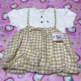 ビケット(Biquette)の130☆重ね着風Tシャツ チュールスカート(Tシャツ/カットソー)