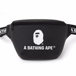 アベイシングエイプ(A BATHING APE)のベイシング エイプ レザー調ウエストポーチ ウエストバッグ APE(ウエストポーチ)