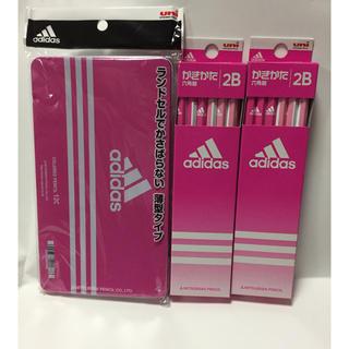 アディダス(adidas)の三菱鉛筆 アディダス 色鉛筆 12色 かきかたえんぴつ 2B 2ダース (鉛筆)