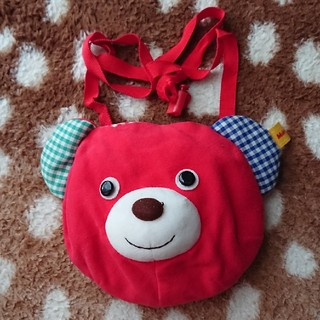 ミキハウス(mikihouse)の子供赤いくまミニポシェット(ポシェット)