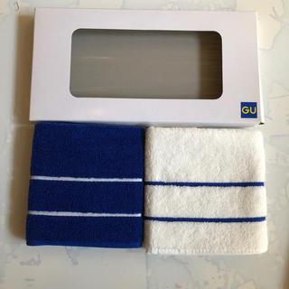 ジーユー(GU)のユニクロ GU 非売品 タオル ハンカチ 2枚組(タオル/バス用品)