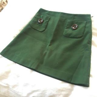 コルテスワークス(CORTES WORKS)の緑のスカート(ひざ丈スカート)