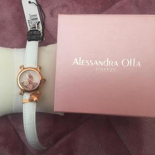 アレッサンドラオーラ(ALESSANdRA OLLA)のハートチャーム付き キラキラ腕時計(腕時計)