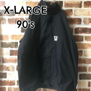 エクストララージ(XLARGE)の[ XLARGE ]希少 90s エクストララージ ナイロンジャケット 黒(ナイロンジャケット)