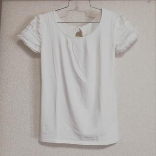 シマムラ(しまむら)のSorridere バックリボン♡半袖シャツ♡袖レースフリル♡カットソー(カットソー(半袖/袖なし))