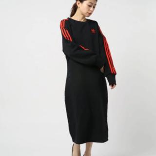 アディダス(adidas)の新品タグ付き☆adidas☆ワンピース☆ブラック(ロングワンピース/マキシワンピース)