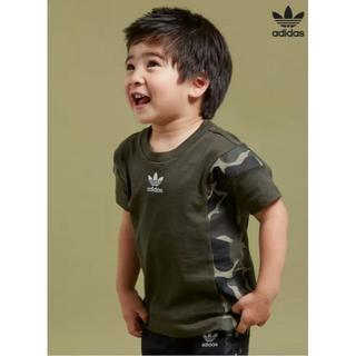 アディダス(adidas)の送込 adidas アディダス ロゴ Tシャツ キッズ kids 75cm 迷彩(Tシャツ)