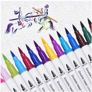 カラーペン サインペン 20色 筆 ペン カラー 水彩 マーカーペン(カラーペン/コピック)