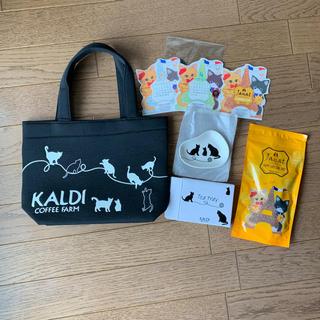 カルディ(KALDI)のカルディ ネコの日バック(茶)