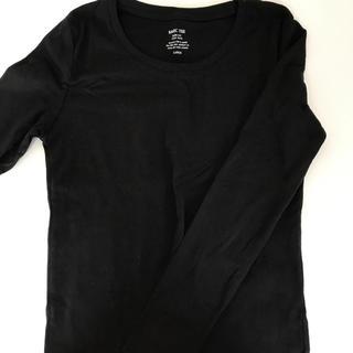 ジーユー(GU)のTシャツ 長袖 ブラック(Tシャツ(長袖/七分))