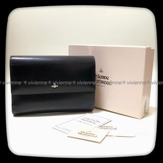 ヴィヴィアンウエストウッド(Vivienne Westwood)の美品*ヴィヴィアン*simple tiny orb口金二つ折り財布*黒(財布)