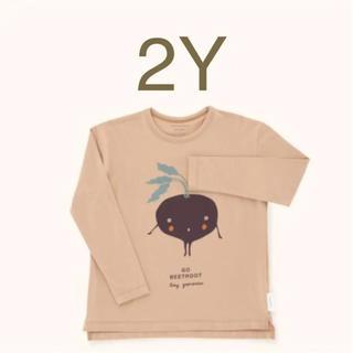 ボボチョース(bobo chose)のTINYCOTTONSタイニーコットンズ ビートルートロンT 2Y(Tシャツ/カットソー)