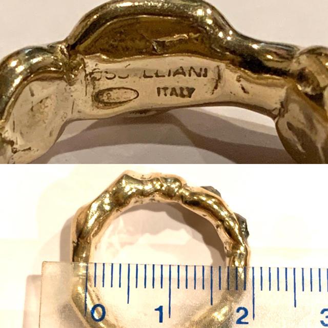 IOSSELLIANI(イオッセリアーニ)のIOSSELLIANI イオッセリアーニ ドロップリング シルバーゴールド レディースのアクセサリー(リング(指輪))の商品写真