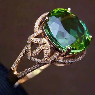高級トルマリン 天然ダイヤモンド リング(リング(指輪))