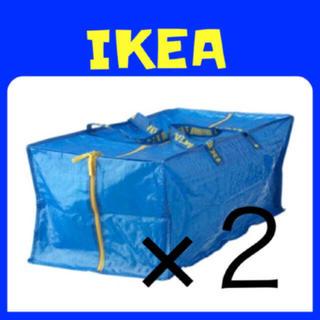 イケア(IKEA)のIKEA FRAKTA  XL ブルーバッグ リュック 2枚(エコバッグ)
