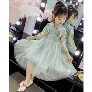 70e5b9534a15f 中華風 お洒落 ワンピース 春ドレス 撮影 結婚式 (ドレス フォーマル)