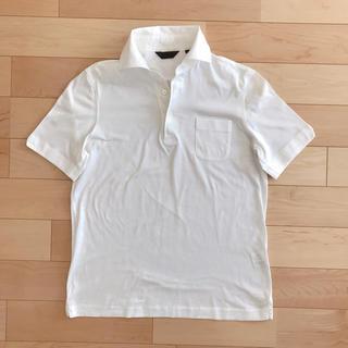 スーツカンパニー(THE SUIT COMPANY)の【美品】スーツカンパニー メンズ ポロシャツ 白 Lサイズ(ポロシャツ)