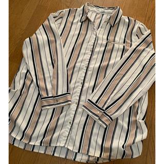 美品☆Lutique☆ストライプシャツ ロングシャツ☆4L 大きいサイズ(シャツ/ブラウス(長袖/七分))