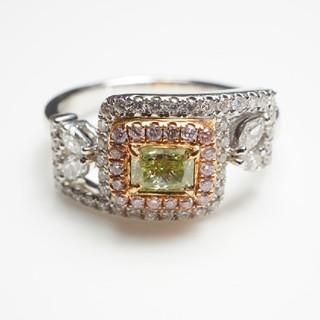 ♡クレオパトラ風グリーンダイヤモンドリング(リング(指輪))