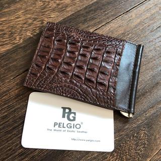 PELGIO 本物はかっこいい!本革クロコダイル マネークリップ 19A62(マネークリップ)