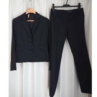 ビームス(BEAMS)のビームス パンツセットアップ 黒 とオデットパンプス(スーツ)